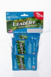 25 Individually wrapped Hygenall LeadOff wipes.