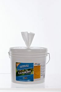 Hygenall LeadOff 500 Wipe Bucket Dispenser. Resealable lid.